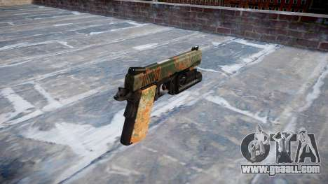 Gun Kimber 1911 Jungle for GTA 4 second screenshot