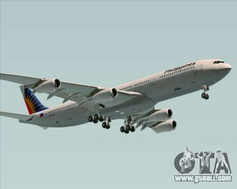 Airbus A340-313 Philippine Airlines for GTA San Andreas inner view