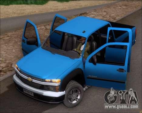 Chevrolet Colorado for GTA San Andreas right view