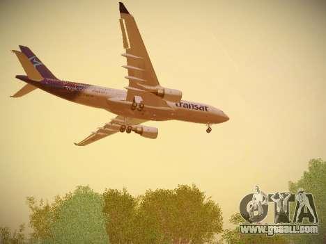 Airbus A330-200 Air Transat for GTA San Andreas wheels