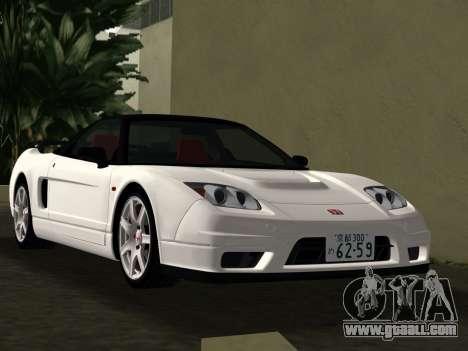 Honda NSX-R for GTA Vice City upper view