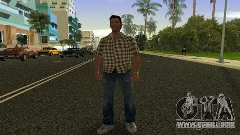 Kockas polo - citrom sarga T-Shirt for GTA Vice City second screenshot