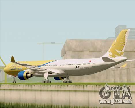Airbus A330-300 Gulf Air for GTA San Andreas back left view
