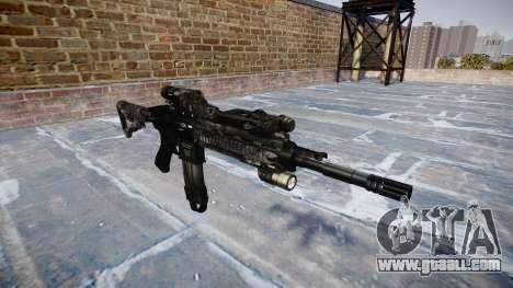 Automatic rifle Colt M4A1 kryptek typhon for GTA 4