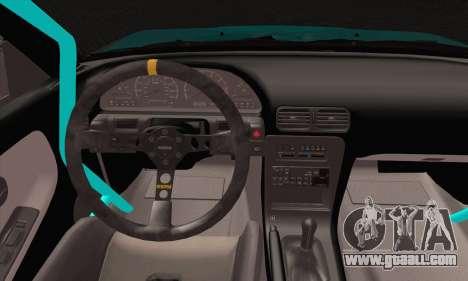 Nissan 240SX Drift Monster Energy for GTA San Andreas back left view