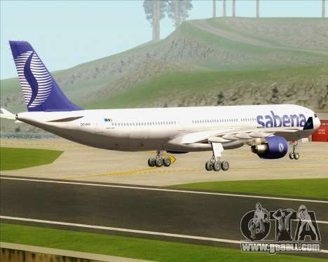 Airbus A330-300 Sabena for GTA San Andreas right view