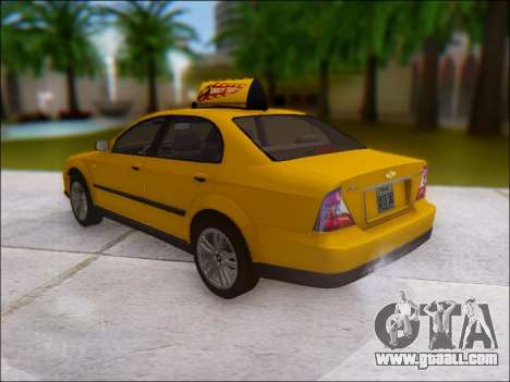 Chevrolet Evanda Taxi for GTA San Andreas back left view