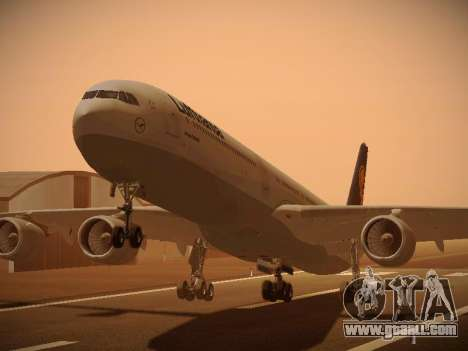Airbus A340-600 Lufthansa for GTA San Andreas left view