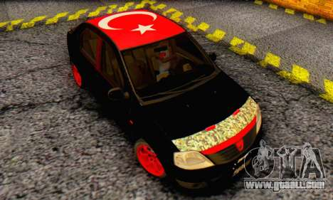 Dacia Logan Turkey Tuning for GTA San Andreas inner view