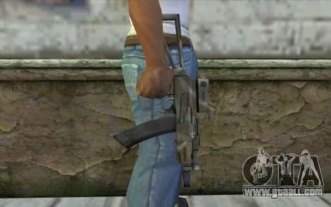 AK74U from Battlefield 2 for GTA San Andreas third screenshot