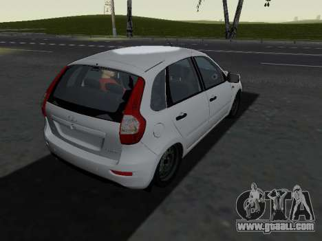 Lada Kalina 2 for GTA San Andreas right view