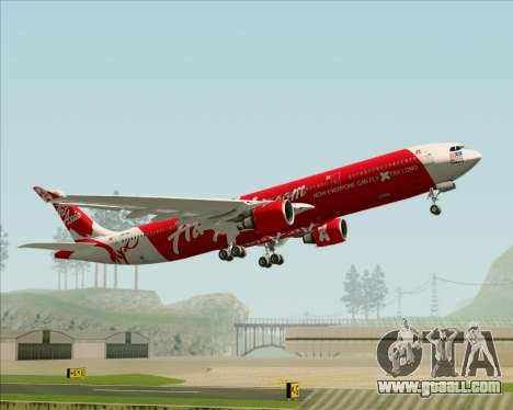Airbus A330-300 Air Asia X for GTA San Andreas bottom view