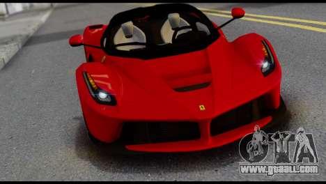 Ferrari LaFerrari 2014 (IVF) for GTA San Andreas back view