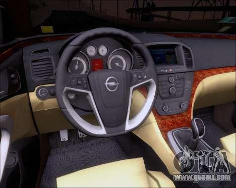 Opel Insignia OPC for GTA San Andreas wheels