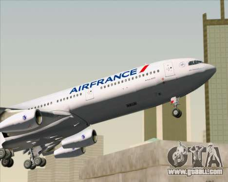 Airbus A340-313 Air France (New Livery) for GTA San Andreas interior