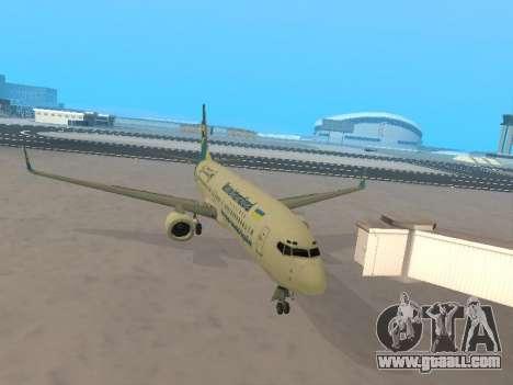 Boeing 737-84R Ukraine International Airlines for GTA San Andreas inner view