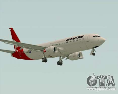 Boeing 737-838 Qantas for GTA San Andreas left view