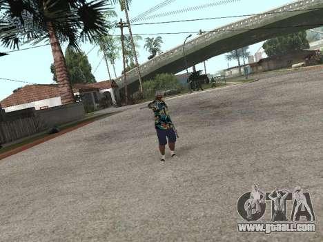 Pose gangster for GTA San Andreas fifth screenshot