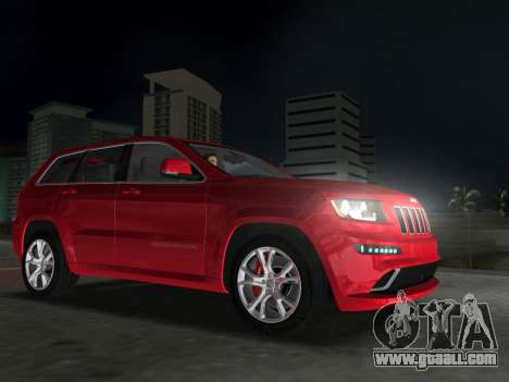 Jeep Grand Cherokee SRT-8 (WK2) 2012 for GTA Vice City back left view
