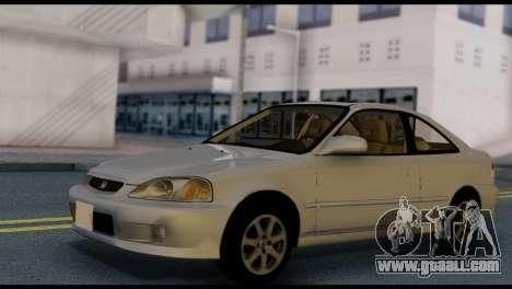Honda Civic Si 1999 for GTA San Andreas right view