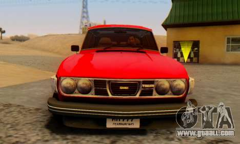 Saab 99 Turbo 1978 for GTA San Andreas back left view