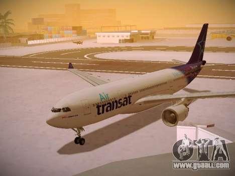 Airbus A330-200 Air Transat for GTA San Andreas left view
