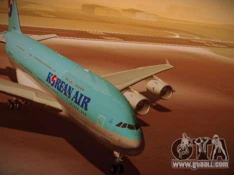 Airbus A380-800 Korean Air for GTA San Andreas left view