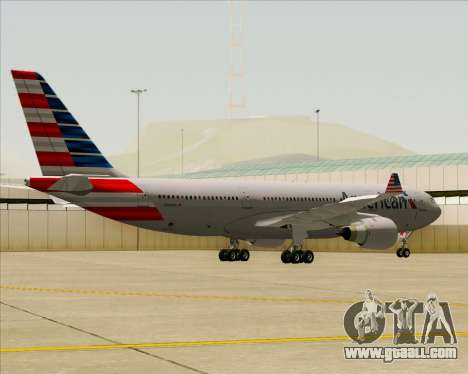 Airbus A330-200 American Airlines for GTA San Andreas back view