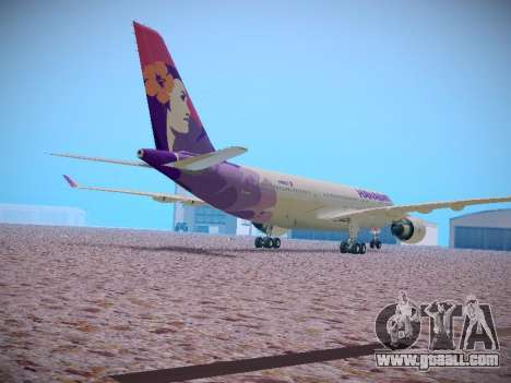 Airbus A330-200 Hawaiian Airlines for GTA San Andreas inner view