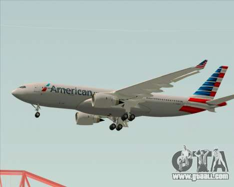 Airbus A330-200 American Airlines for GTA San Andreas bottom view