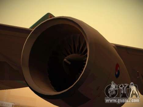Airbus A380-800 Korean Air for GTA San Andreas interior