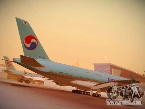Airbus A380-800 Korean Air for GTA San Andreas upper view