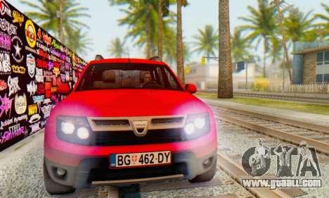 Dacia Duster for GTA San Andreas right view