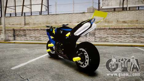 Yamaha R1 2007 Stunt for GTA 4 back left view