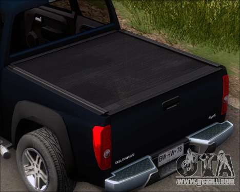 Chevrolet Colorado for GTA San Andreas upper view