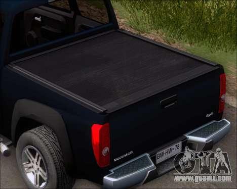 Chevrolet Colorado for GTA San Andreas upper view