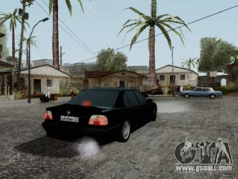BMW 760i E38 for GTA San Andreas back left view