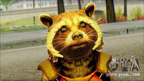 Guardians of the Galaxy Rocket Raccoon v2 for GTA San Andreas third screenshot