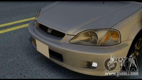 Honda Civic Si 1999 for GTA San Andreas inner view