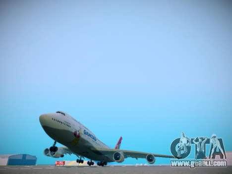 Boeing 747-438 Qantas Boxing Kangaroo for GTA San Andreas back left view