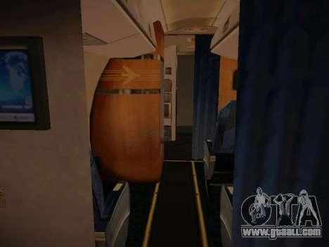 Embraer E190 Azul Brazilian Airlines for GTA San Andreas interior