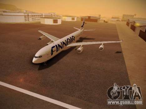 Airbus A340-300 Finnair for GTA San Andreas inner view