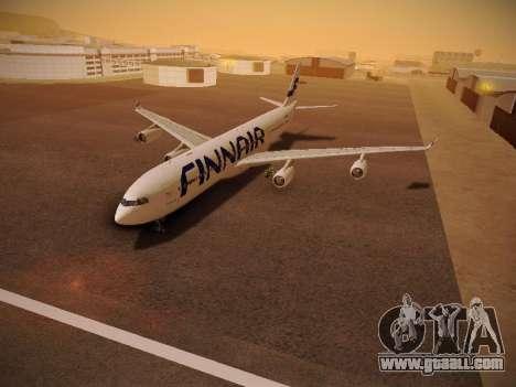 Airbus A340-300 Finnair for GTA San Andreas inner view