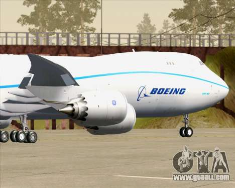 Boeing 747-8 Cargo House Livery for GTA San Andreas side view