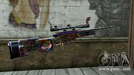 Graffiti Sniper Rifle for GTA San Andreas second screenshot