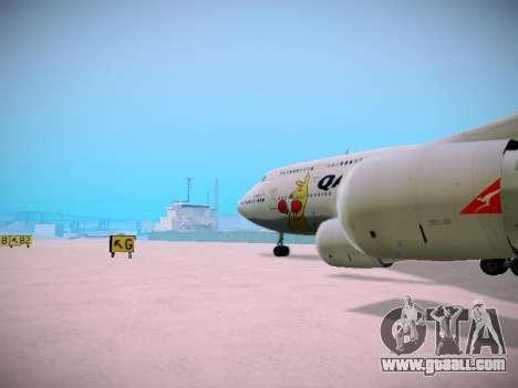 Boeing 747-438 Qantas Boxing Kangaroo for GTA San Andreas interior