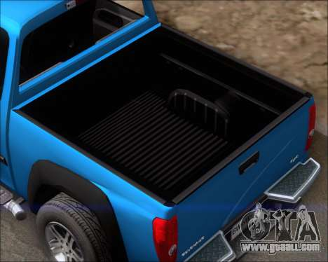 Chevrolet Colorado for GTA San Andreas side view