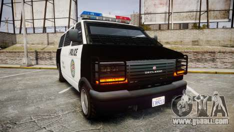 Declasse Burrito Police Transporter ROTORS [ELS] for GTA 4