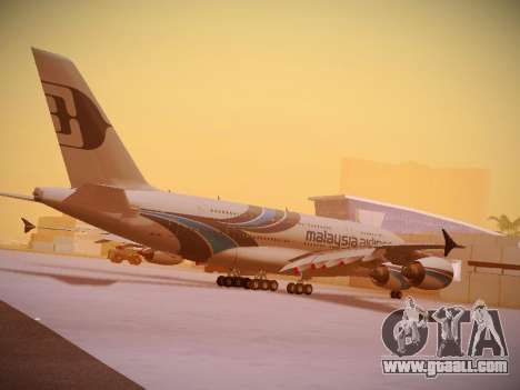 Airbus A380-800 Malaysia Airlines for GTA San Andreas interior