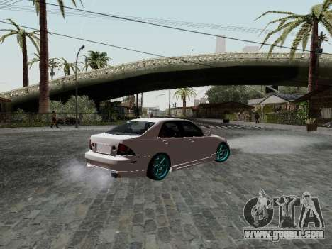 Toyota Altezza Addinol for GTA San Andreas left view